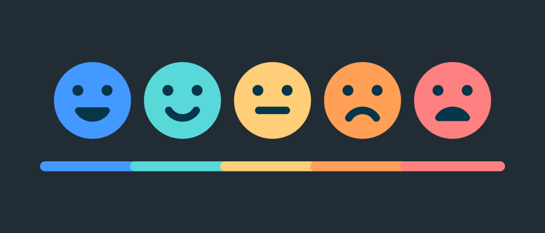 feedback smiley scale